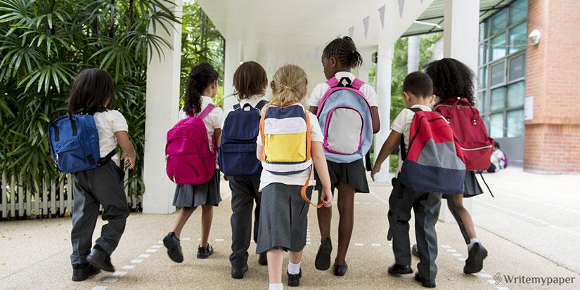 Entering a School