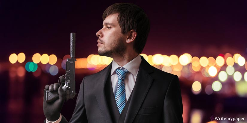 Person Holds Gun