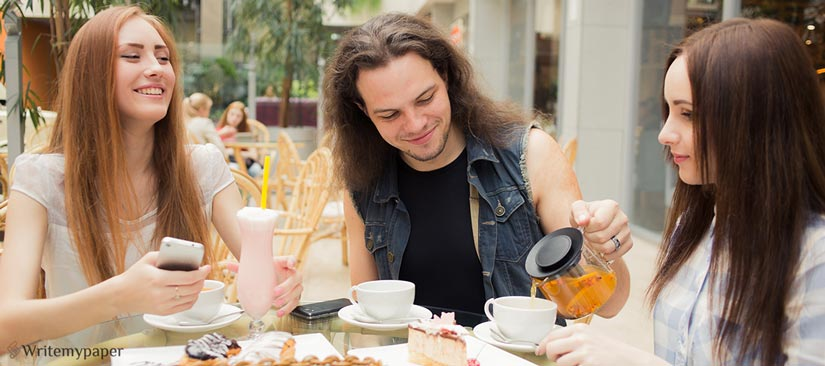Rocker Drinking Tea