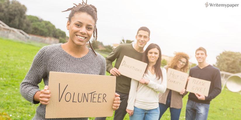 Volunteering Student